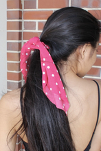 Load image into Gallery viewer, Polkadot Scrunchie Hair Scarf