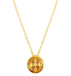 "Gracewear 16"" Linked Medallion Petite Necklace -Gold"