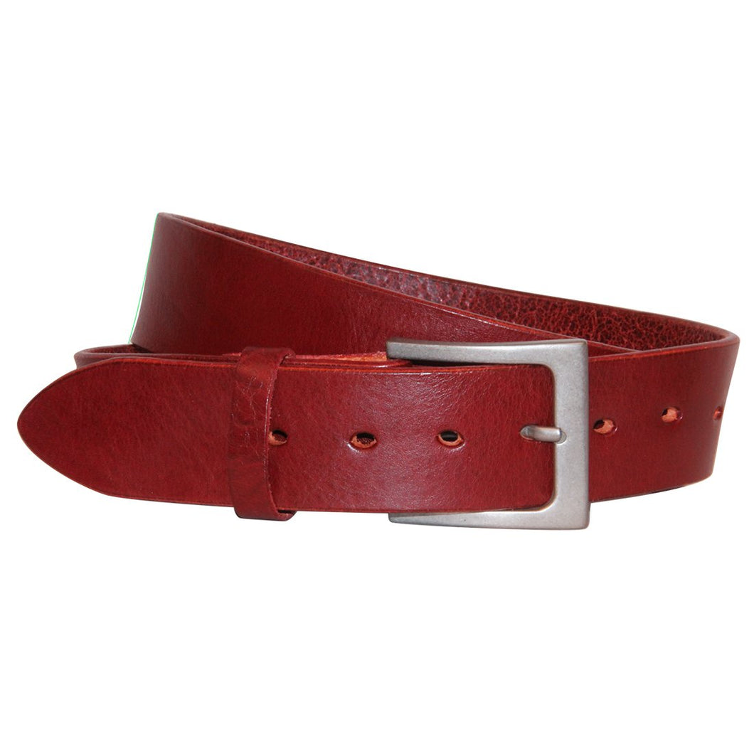 The Scottie Handmade Leather Belt - Red