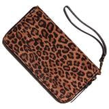 The Stephanie Handmade Phone Wallet or Wristlet - Leopard