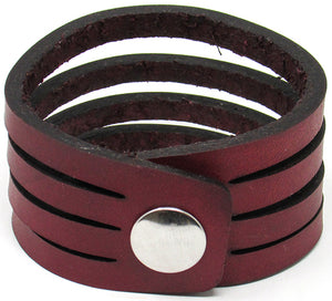 Hometown I Slice Cut Cuff-Garnet