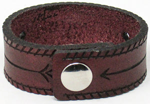 Hometown I Thin Arrow Cuff-Garnet