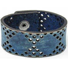 Load image into Gallery viewer, Hometown I Diamond Cut Cuff-Distressed Navy