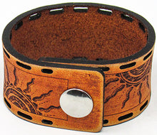 Load image into Gallery viewer, Hometown I Tribal Suns Cuff-Distressed British Tan
