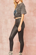 Load image into Gallery viewer, Arya Black Faux Leather Leggings