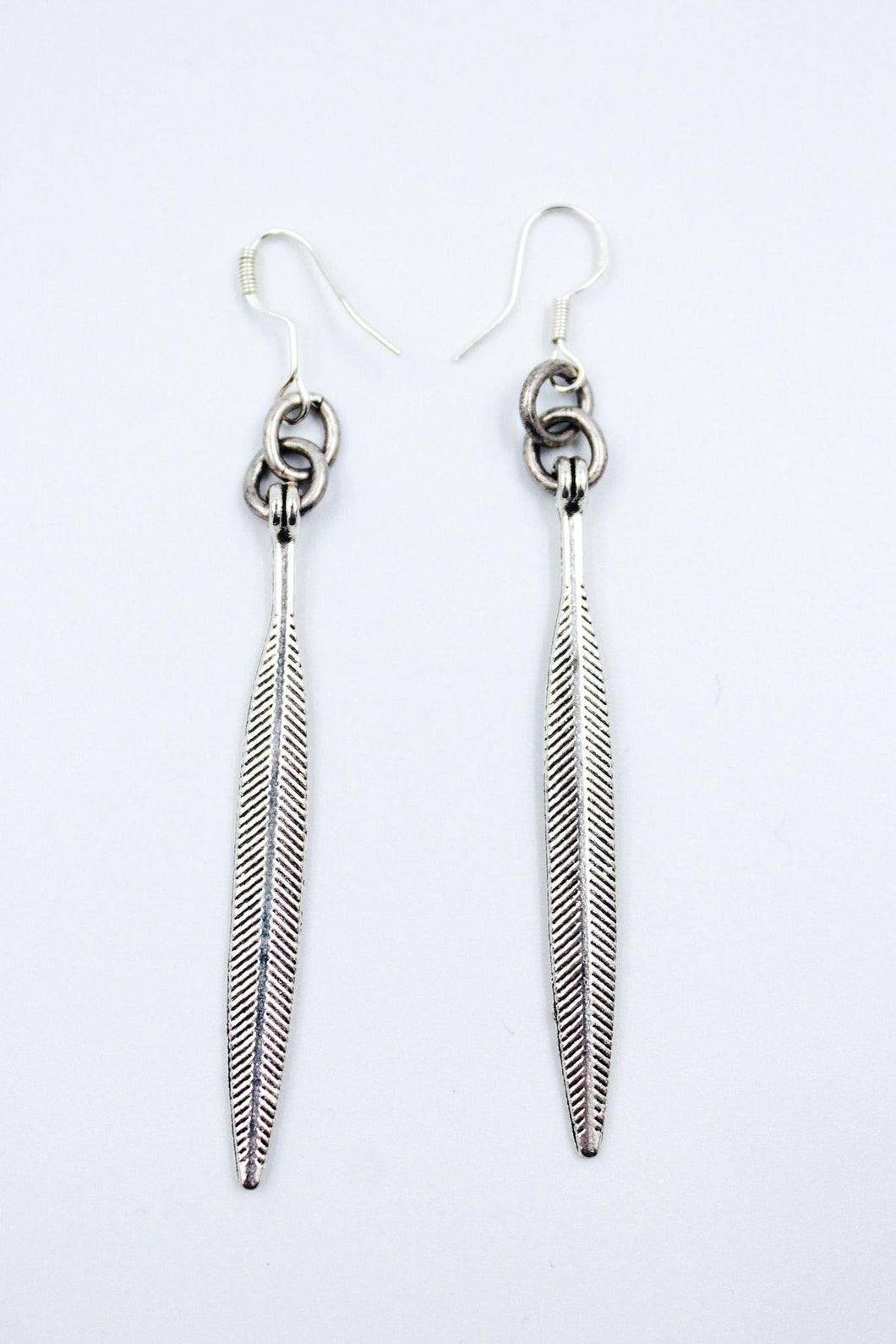 Cherrah Simple Silver Earrings with Tiny Etching Details