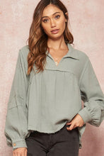 Load image into Gallery viewer, Lyanna Long Sleeve Top - Green