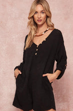 Load image into Gallery viewer, Casual Black Knit Romper