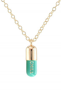 The Kris Light Green Chill Pill Necklace