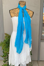 Load image into Gallery viewer, Crinkle Scarf Available in Blank and Aqua