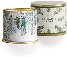 Load image into Gallery viewer, Balsam & Cedar Large Tin Candle