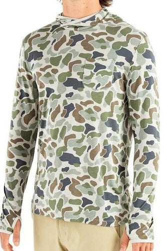 Men's Bamboo Free Fly Lightweight Crossover Hoody Camo