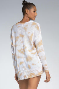 Kiki Tie Dye Sweater - Latte