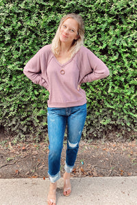 Roxy Raglan Sleeve Top