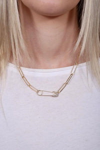 Letts Safety Pin Necklace