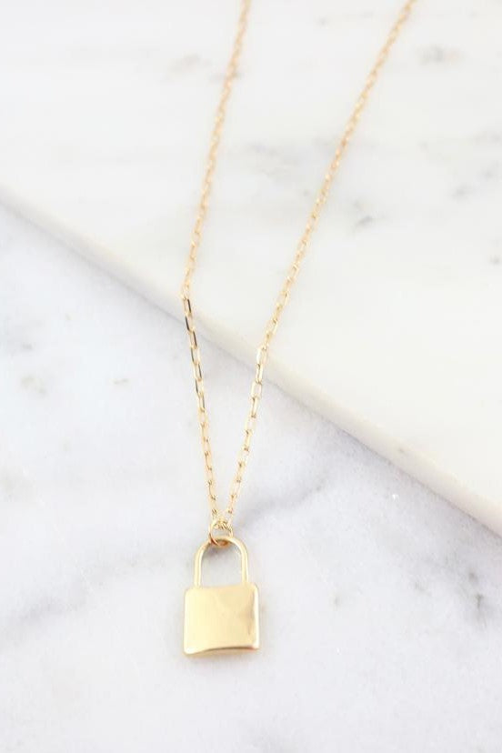 Locksley Link Necklace w/ Lock