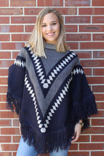 Load image into Gallery viewer, Nora Navy Poncho