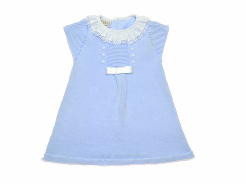 Paz Rodriguez Baby Girl Espuma Blue Dress