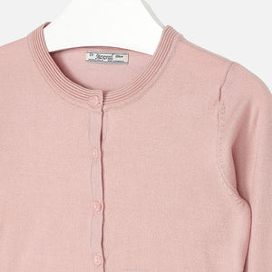 Mayoral Pale Pink Fine Knit Cardigan