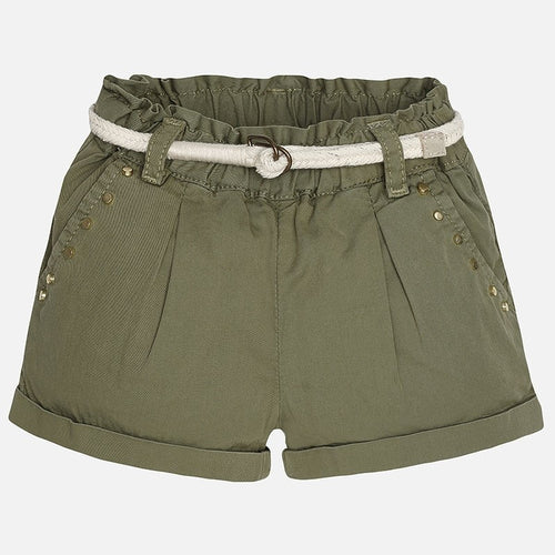 Mayoral Baby Girl Tacked Shorts