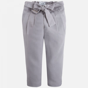 MAYORAL GREY LONG PANTS WITH BOW