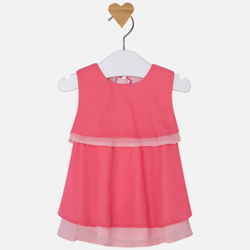 Mayoral Baby Coral Tiered Layer Dress