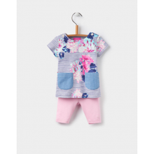 Joules Baby Paula Tunic And Leggings Set - Cream Posy Stripe