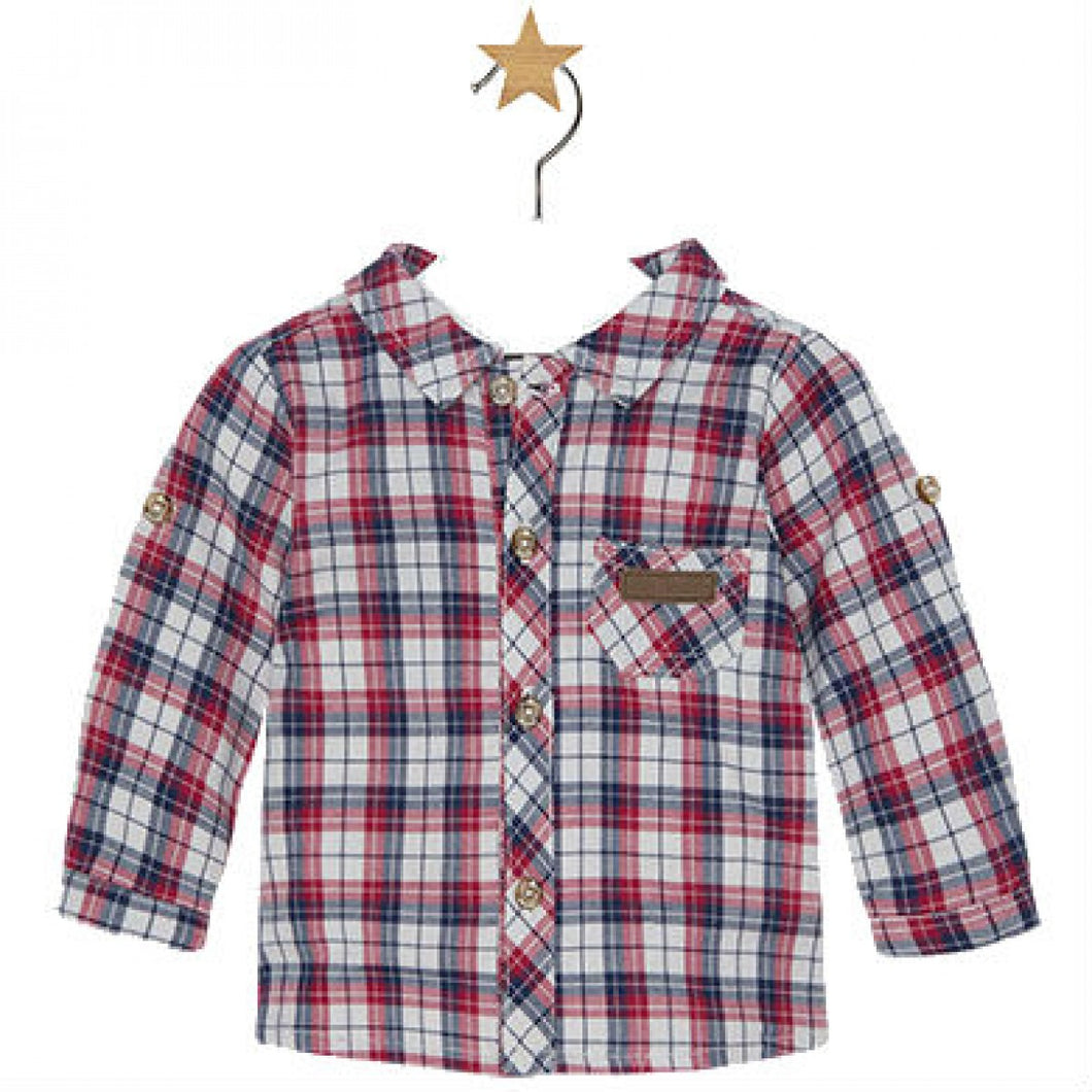 Mayoral Baby Boy Plaid Shirt