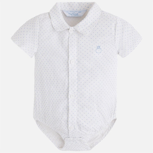 Mayoral Baby Boy Short Sleeve Shirt Bodysuit
