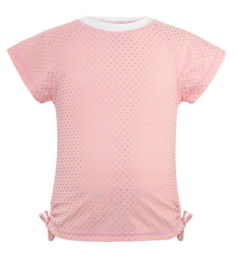 BALLET PINK & GOLD DOT SS RASH TOP