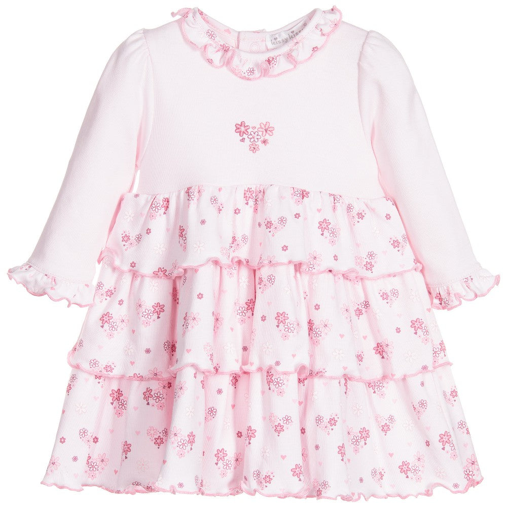 Tender Hearts Print Dress w/Diaper Cover