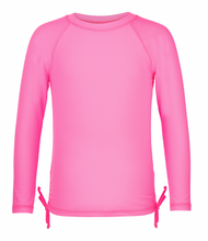NEON PINK LS RASH TOP