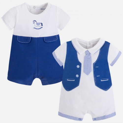Mayoral Baby Boy Set of 2 Rompers