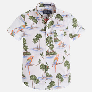 Mayoral Boys Hawaiian Layered Shirt