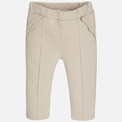Mayoral Baby Girl Jeggings-Beige