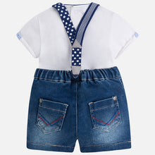 Mayoral Boy Shirt and Denim Shorts Set