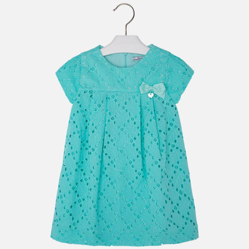 Mayoral Girl Dress in Elegant Summer Tiffany Green Dress