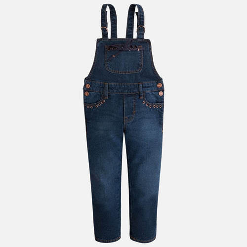 Mayoral Girls Denim Overalls