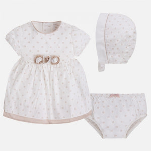 Mayoral Baby Girl Dress set 3 Pieces