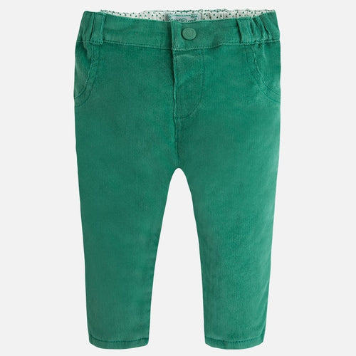 Mayoral Baby Velvet Pants-Green