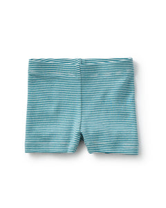 Striped Somersault Shorts in Peacock by Tea