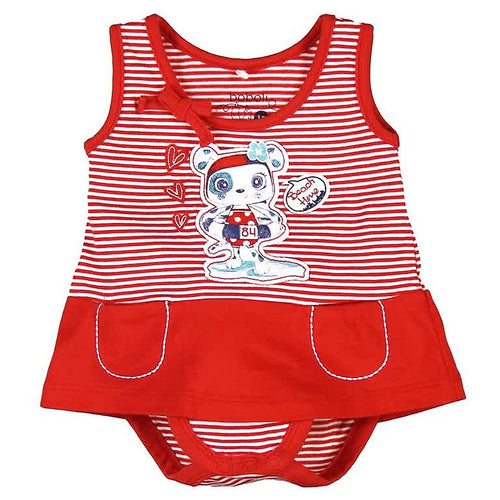 Boboli Baby Girl Red Playsuit