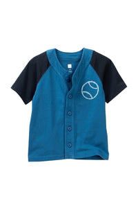 Tea Collection Shibori Baseball Tee - Rain