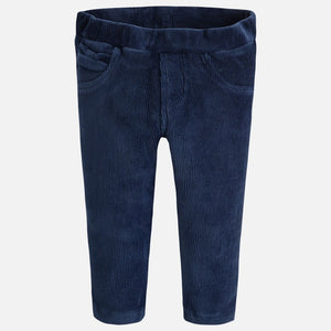 Mayoral Baby Girl Velvet Jeggings-Navy