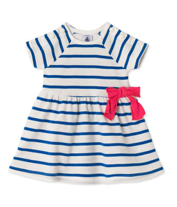 Petit Bateau Striped dress with bow