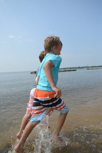 BOARD SHORTS - ORANGE STRIPE