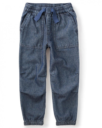Tea Collection Indigo Dyed Canvas Pants
