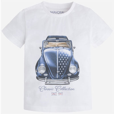 Mayoral 3011 white car t-shirt