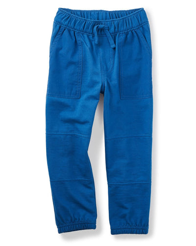 Tea Collection Patch Pocket Joggers in Blue Nova