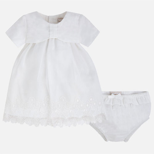 Mayoral Baby Girl White Dress Set